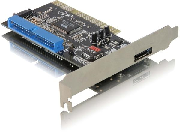 Add two internal sata and one ide connector to a computer through a pci slot