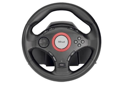 Trust GM-3200 Compact Vibration Feedback Steering Wheel (PC/PS2)