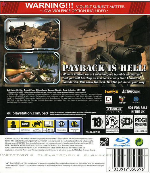 Soldier of Fortune: Payback (PS3)