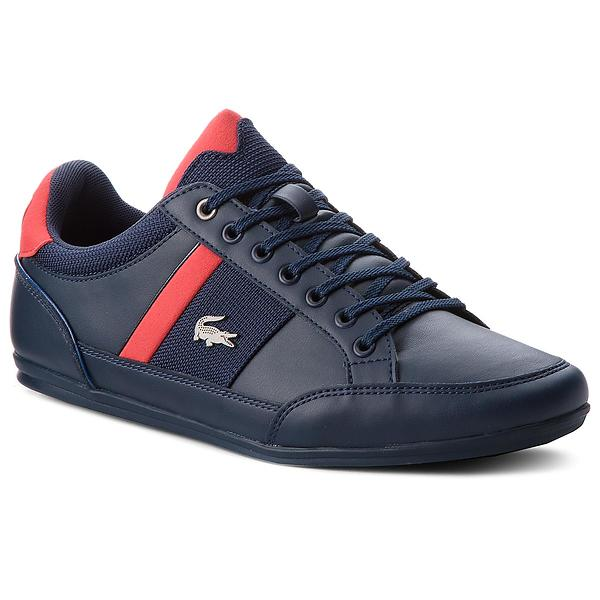 Lacoste Chaymon Leather & Mesh Low (Uomo)