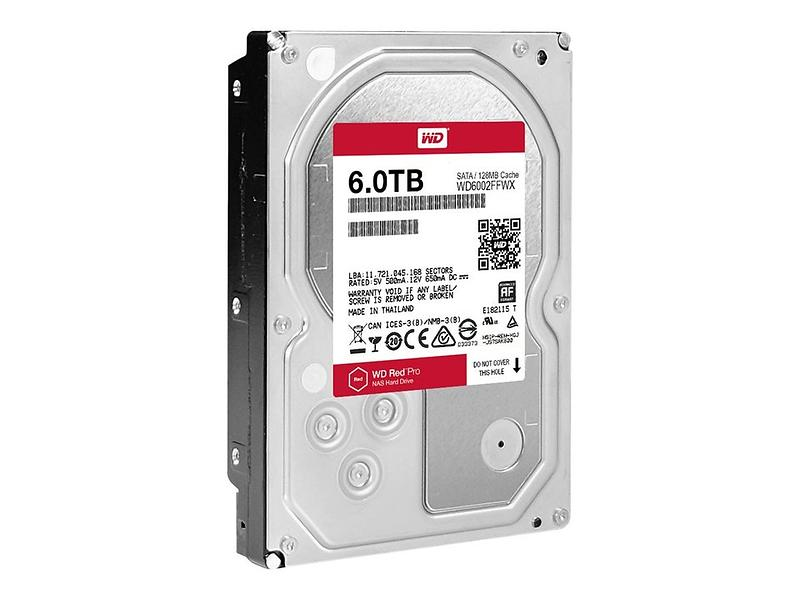 WD Red Pro WD6002FFWX 128MB 6TB