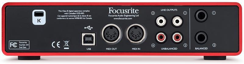 Focusrite Scarlett 2i4 MK2