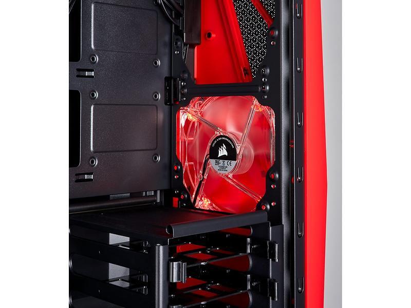 Corsair Carbide SPEC-04 TG (Nero/Rosso/Trasparente)