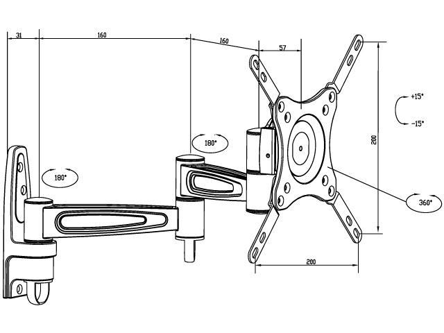 Multibrackets M VESA Flexarm 360 III