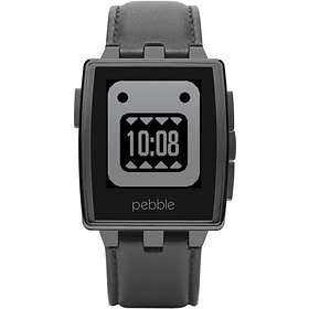 Pebble Steel Smartwatch Leather