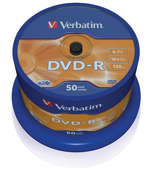 Verbatim DVD-R 4,7GB 16x 50pz Spindle