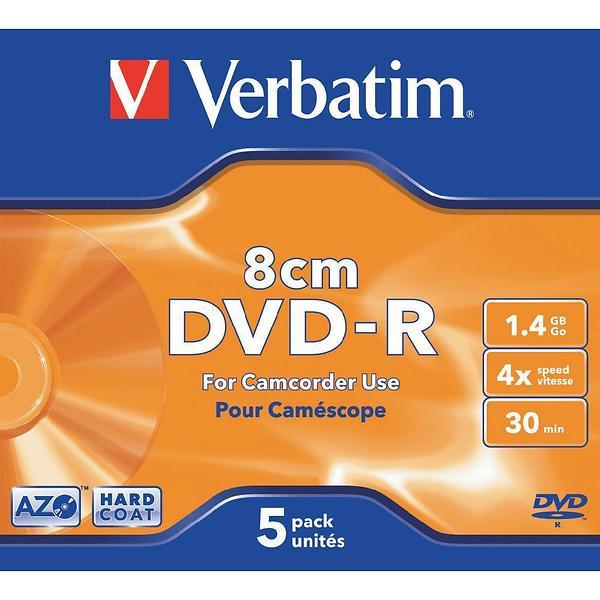 Verbatim DVD-R 8cm 1,4GB 4x 5pz Jewelcase