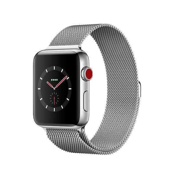 Apple Watch Series 3 4G 42mm Stainless Steel with Milanese Loop