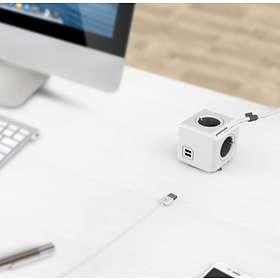 Allocacoc PowerCube Extended 4-Way 2xUSB 1.5m