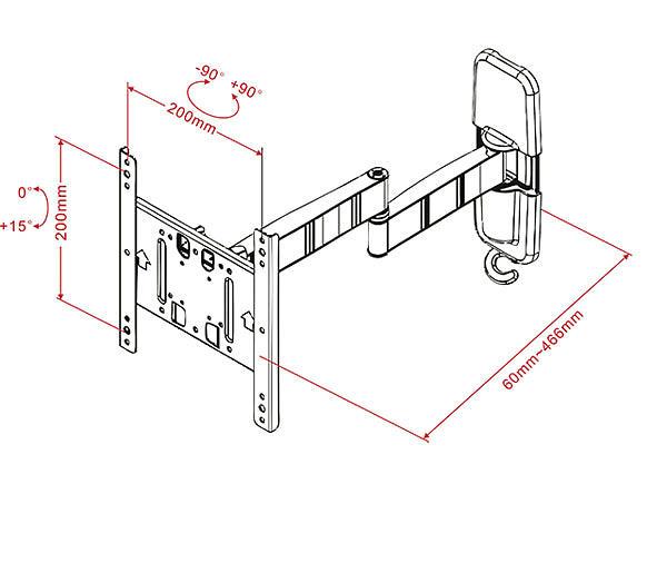 Multibrackets M VESA Flexarm Tilt & Turn III Small