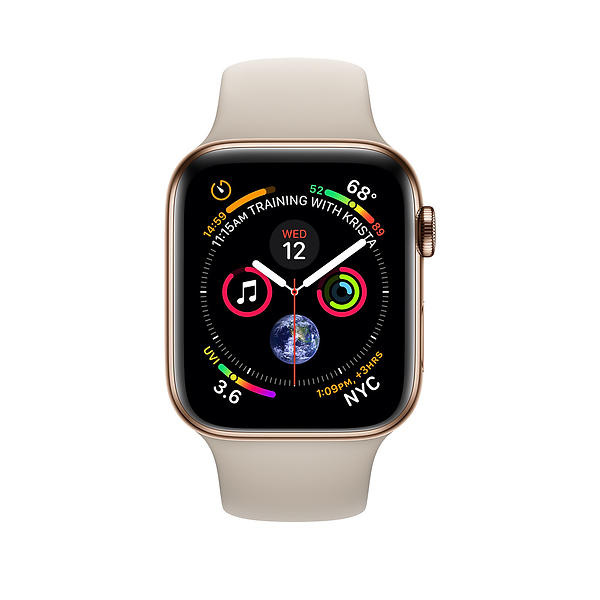Apple Watch Series 4 4G 44mm Stainless Steel with Sport Band