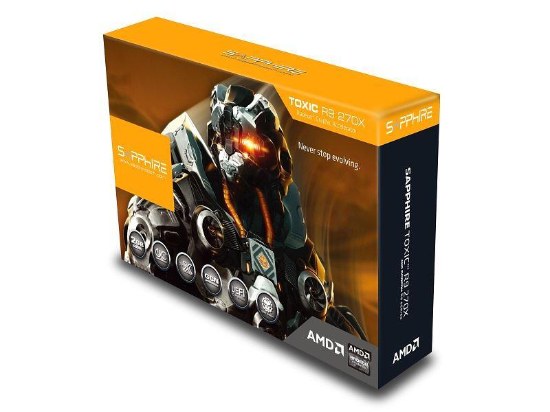 Sapphire Radeon R9 270X Toxic HDMI DP 2xDVI 2GB