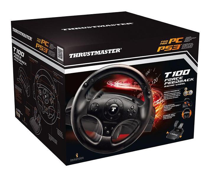 Thrustmaster T100 Force Feedback Racing Wheel PCPS3