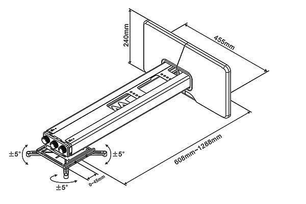 Multibrackets M Projector Mount Short Throw Deluxe 600-1300