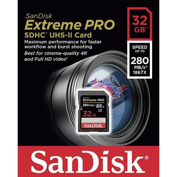 SanDisk Extreme Pro SDHC Class 10 UHS-II U3 280MB/s 32GB
