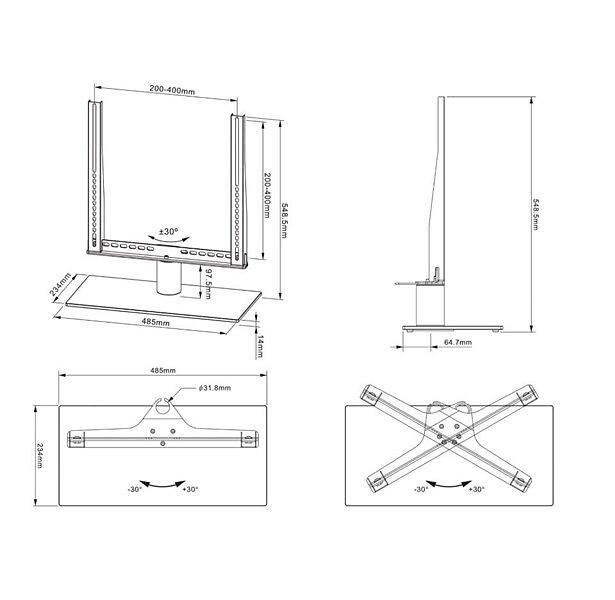 Multibrackets M VESA Tablestand Turn Medium MAX 400x400