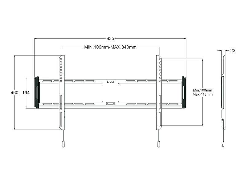 Multibrackets M Universal Wallmount Fixed Large