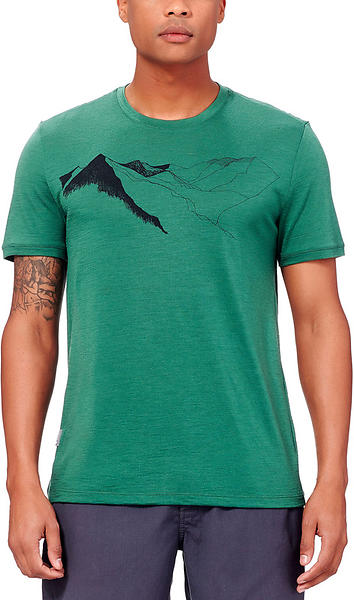 Icebreaker Tech Lite Printed Crewe SS Shirt (Uomo)