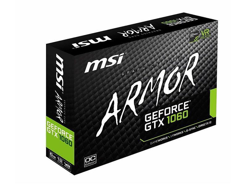 MSI GeForce GTX 1060 Armor OC HDMI 3xDP 6GB