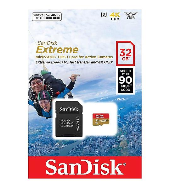 SanDisk Extreme microSDHC Class 10 UHS-I U3 90/60MB/s 32GB