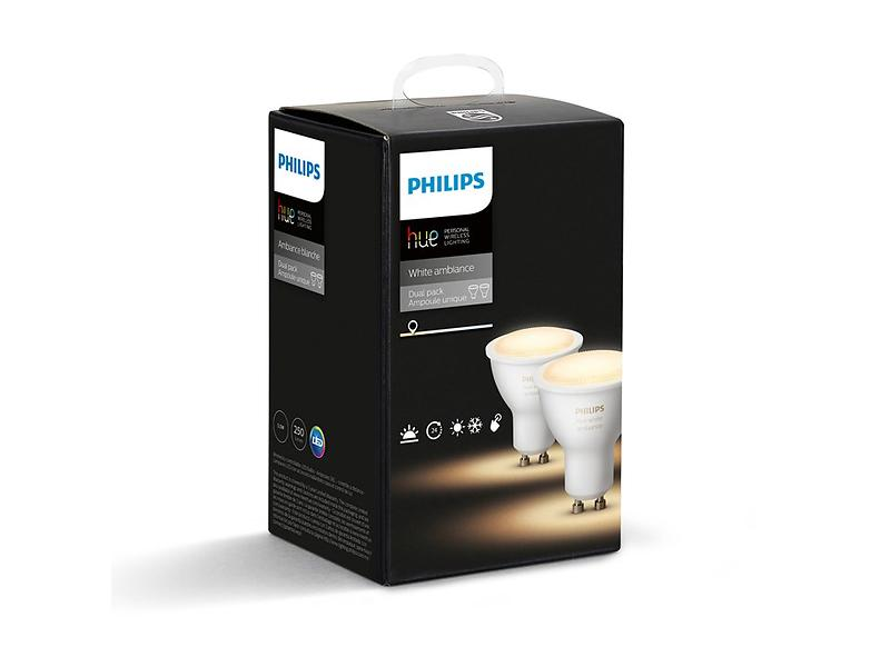 Philips Hue Ambiance White 250lm 6500K GU10 5,5W 2-pack (Dimmerabile)