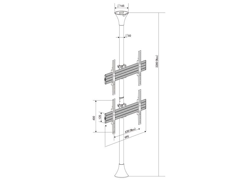 Multibrackets M Floor to Ceiling Mount Pro MBFC2U