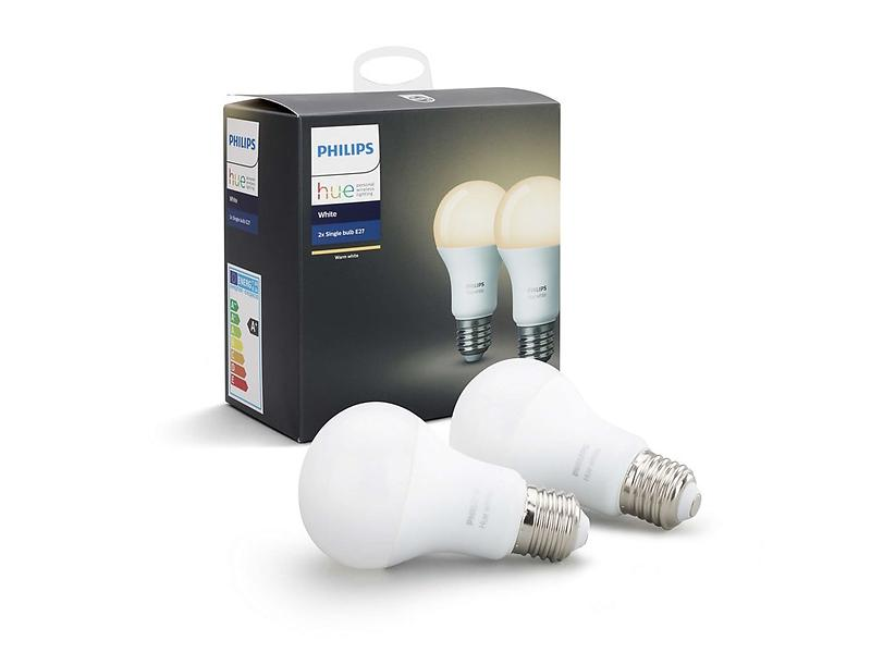 Philips Hue White 806lm 2700K E27 9,5W 2-pack (Dimmerabile)