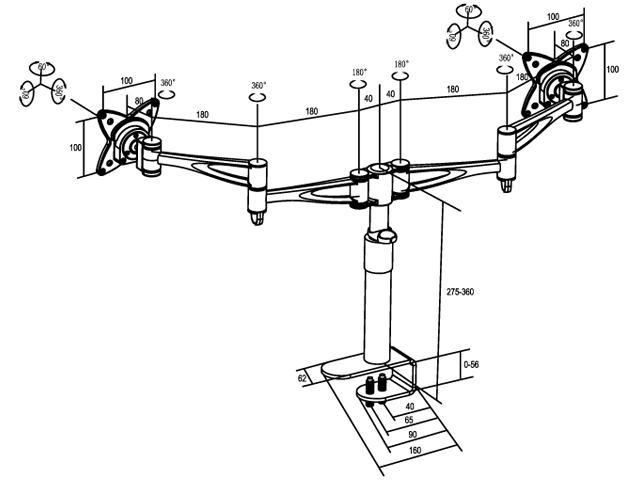 Multibrackets M VESA Deskmount III Dual Arm