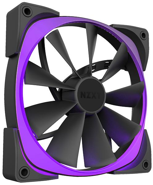 NZXT Aer RGB & HUE+ PWM 140mm LED 2-pack