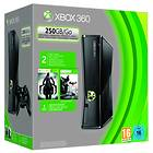 Microsoft Xbox 360 Slim 250GB (inkl. Batman Arkham City + Darksiders II)