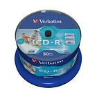 Verbatim CD-R 700MB 52x 50-pack Spindel Wide Inkjet