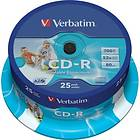 Verbatim CD-R 700MB 52x 25-pack Spindel Wide Inkjet