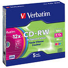 Verbatim CD-RW 700MB 12x 5-pack Colour Slimcase