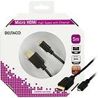 Deltaco Gold HDMI - HDMI Micro High Speed with Ethernet 5m
