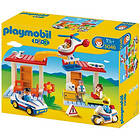 Playmobil 1.2.3 5046 Hospital with emergency aid workers and police