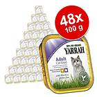Yarrah Cat Adult Pate Chicken & Turkey with Aloe Vera 48x0,1kg