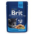 Brit Premium Pouches Kitten Chicken 24x0.1kg