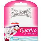 Wilkinson Sword Quattro For Women 6-pack