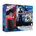 Sony PlayStation 4 Slim 1TB (ml. Driveclub + Uncharted 4 + Ratchet & Clank)