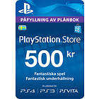 Sony PlayStation Network Card - 500 SEK