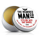 The Bearded Man Co Oak Barrel Moustache Wax 15g