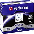 Verbatim M-Disc BD-R DL 50GB 6x 5-pack Jewelcase