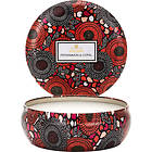 Voluspa 3 Wick Candle In Decorative Tin Persimmon & Copal
