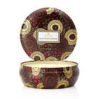 Voluspa 3 Wick Candle In Decorative Tin Goji Tarocco Orange