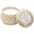Voluspa Petite Decorative Tin Candle Suede Blanc