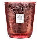 Voluspa Hearth 5 Wick Glass Candle Persimmon & Copal