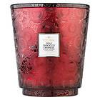Voluspa Hearth 5 Wick Glass Candle Goji Tarocco Orange