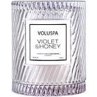 Voluspa Icon Cloche Cover Candle Violet & Honey