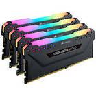 Corsair Vengeance Black RGB LED Pro DDR4 3200MHz 4x16GB (CMW64GX4M4C3200C16)
