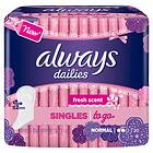 Always Dailies Singles To Go Normal (20-pack)